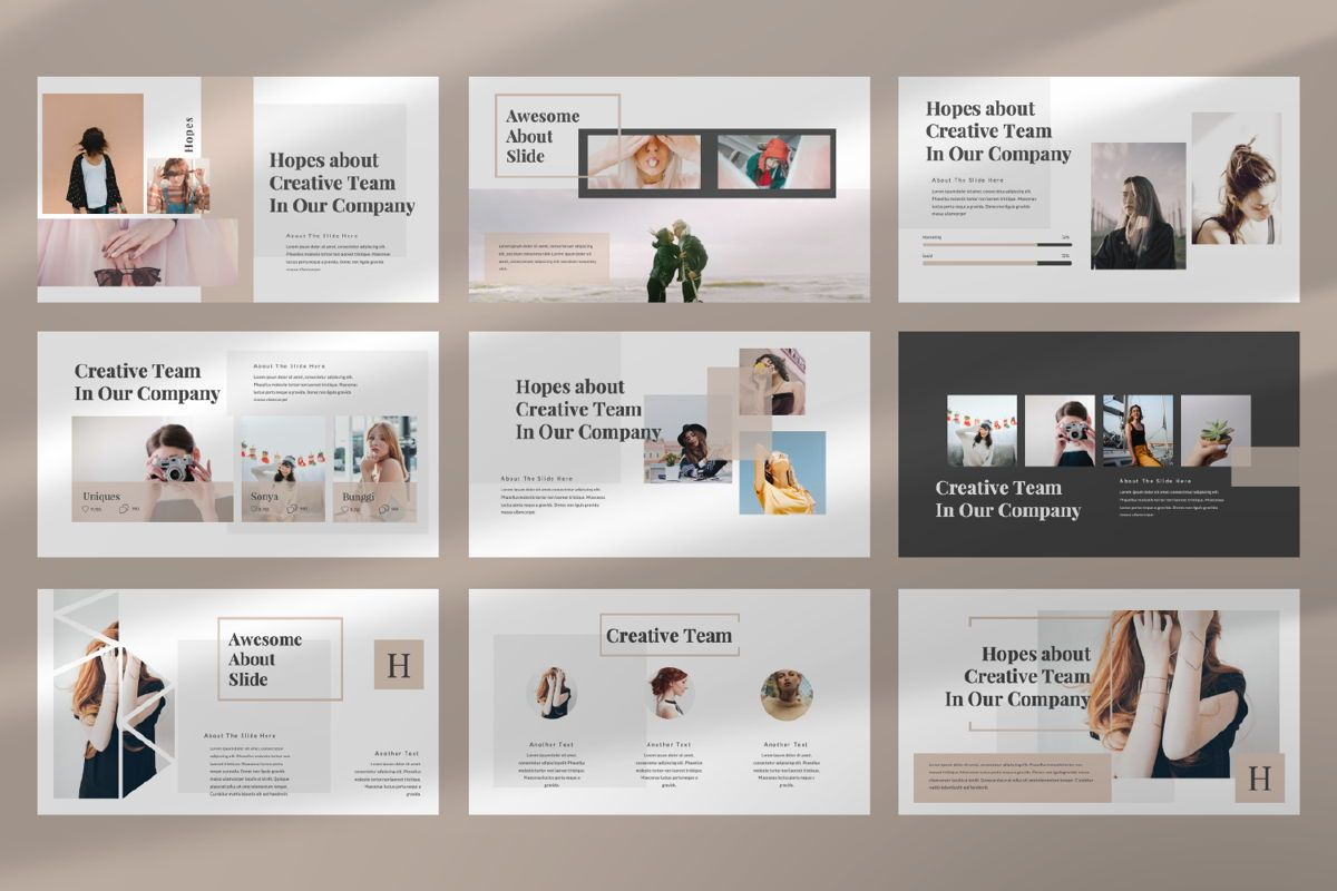 Hope Creative Google Slide, Slide 3, 06649, Presentation Templates — PoweredTemplate.com