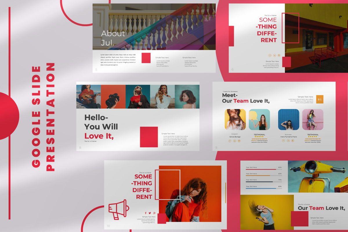 Jul Business Google Slide, 06652, Presentation Templates — PoweredTemplate.com