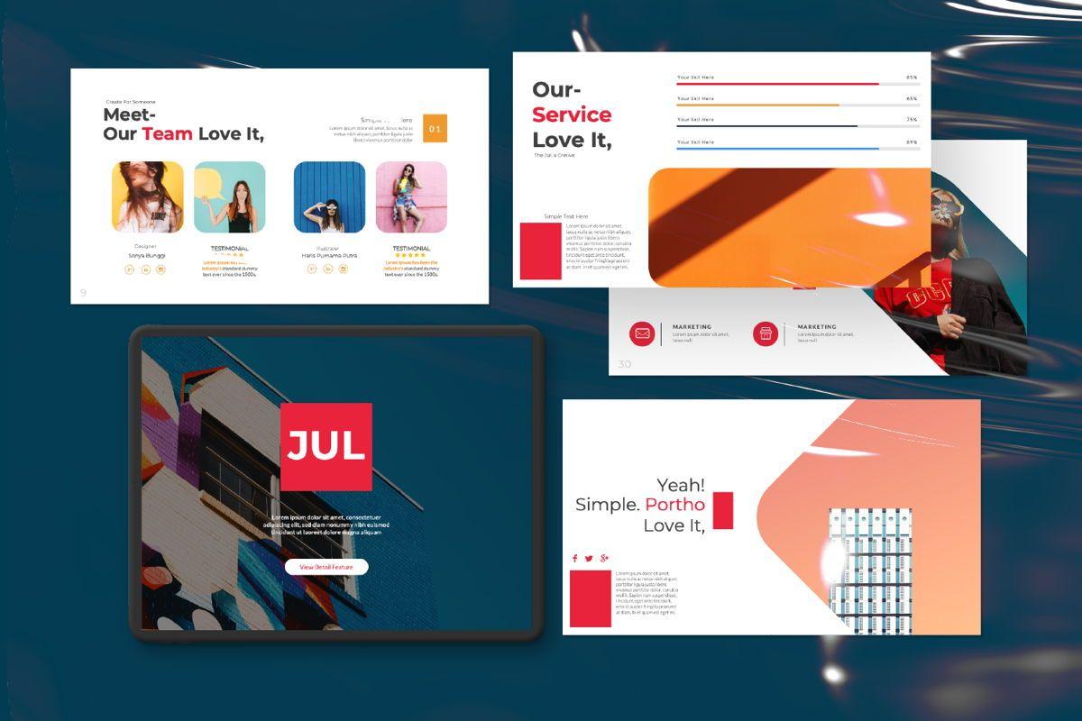 Jul Business Google Slide, Slide 11, 06652, Presentation Templates — PoweredTemplate.com