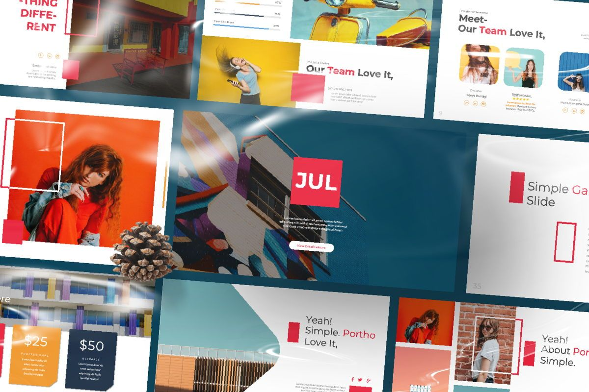 Jul Business Google Slide, Slide 12, 06652, Presentation Templates — PoweredTemplate.com