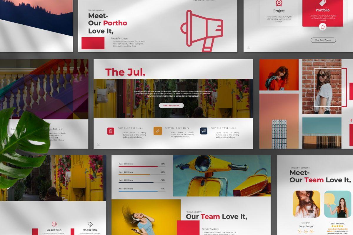Jul Business Google Slide, Slide 9, 06652, Presentation Templates — PoweredTemplate.com