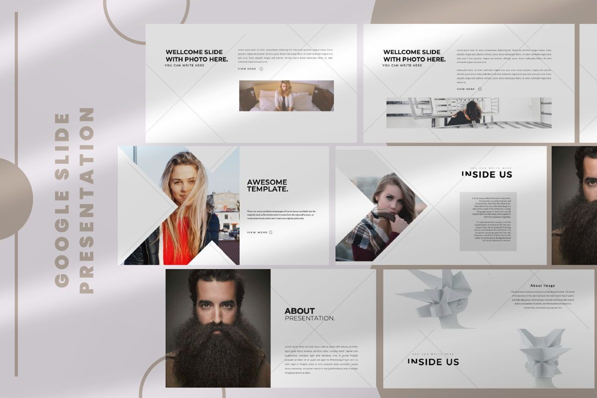 Inside Us Creative Google Slide, 06655, Presentation Templates — PoweredTemplate.com