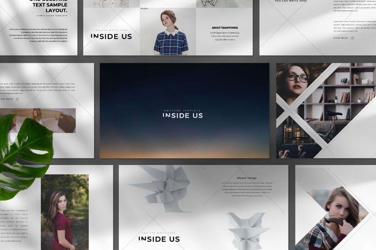 Inside Us Creative Keynote, Slide 9, 06656, Presentation Templates — PoweredTemplate.com