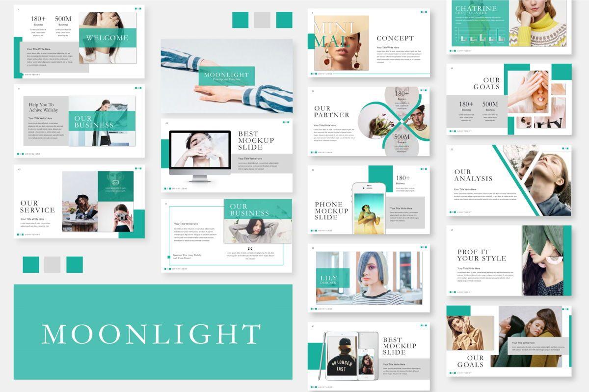 Moonlight Business Keynote, 06659, Presentation Templates — PoweredTemplate.com