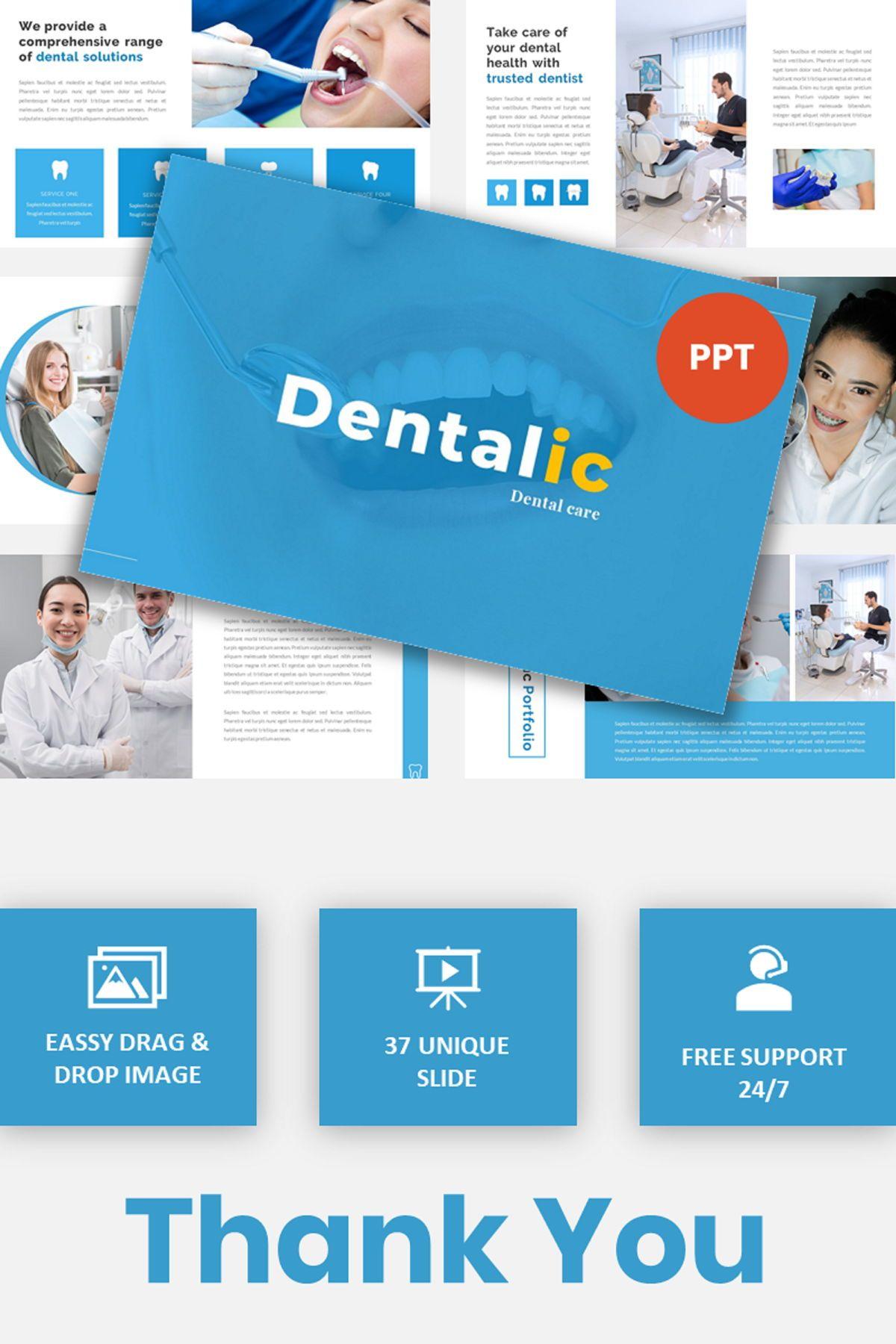 Dentalic - Dental Care Google Slide Template, 06662, Presentation Templates — PoweredTemplate.com