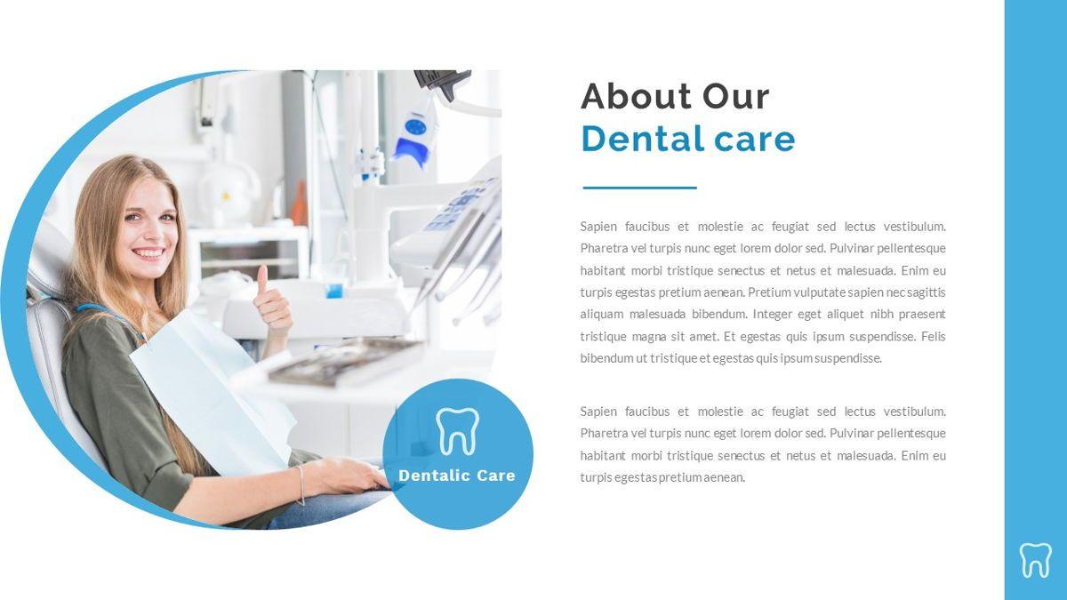 Dentalic - Dental Care Google Slide Template, Slide 3, 06662, Presentation Templates — PoweredTemplate.com