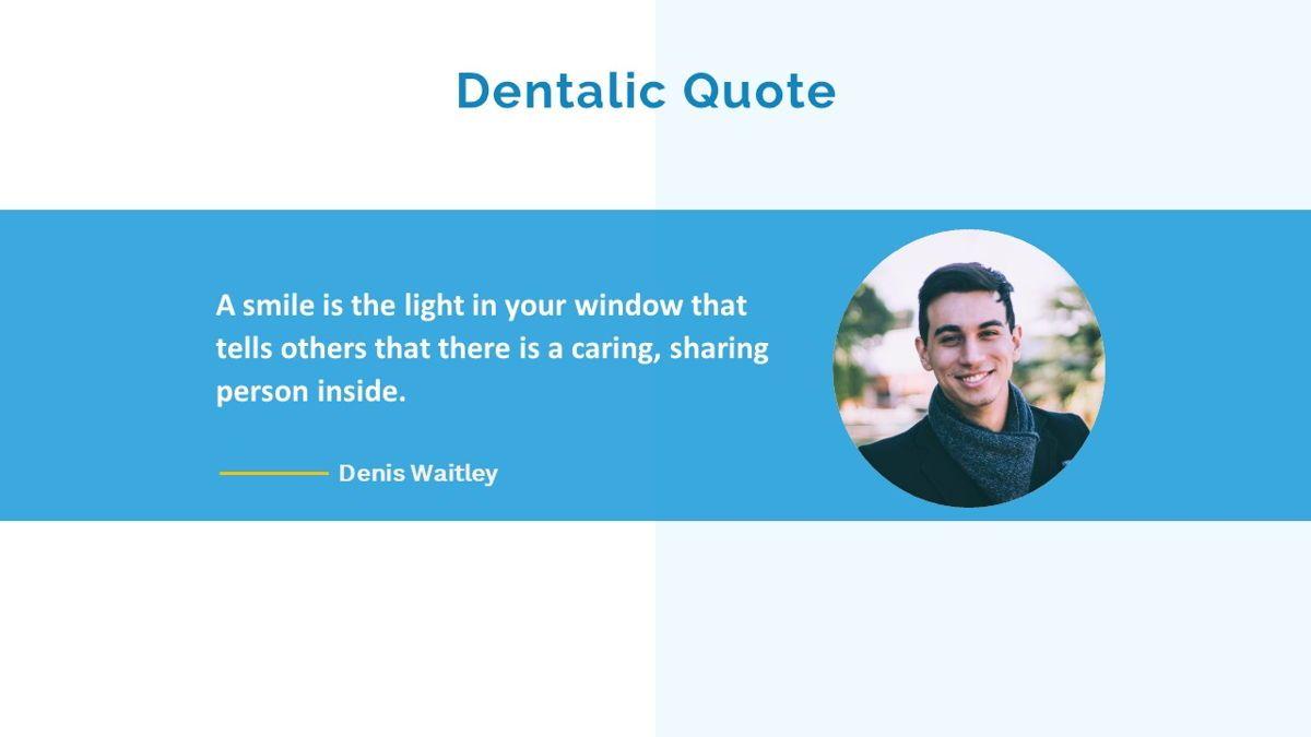 Dentalic - Dental Care Google Slide Template, Slide 35, 06662, Presentation Templates — PoweredTemplate.com