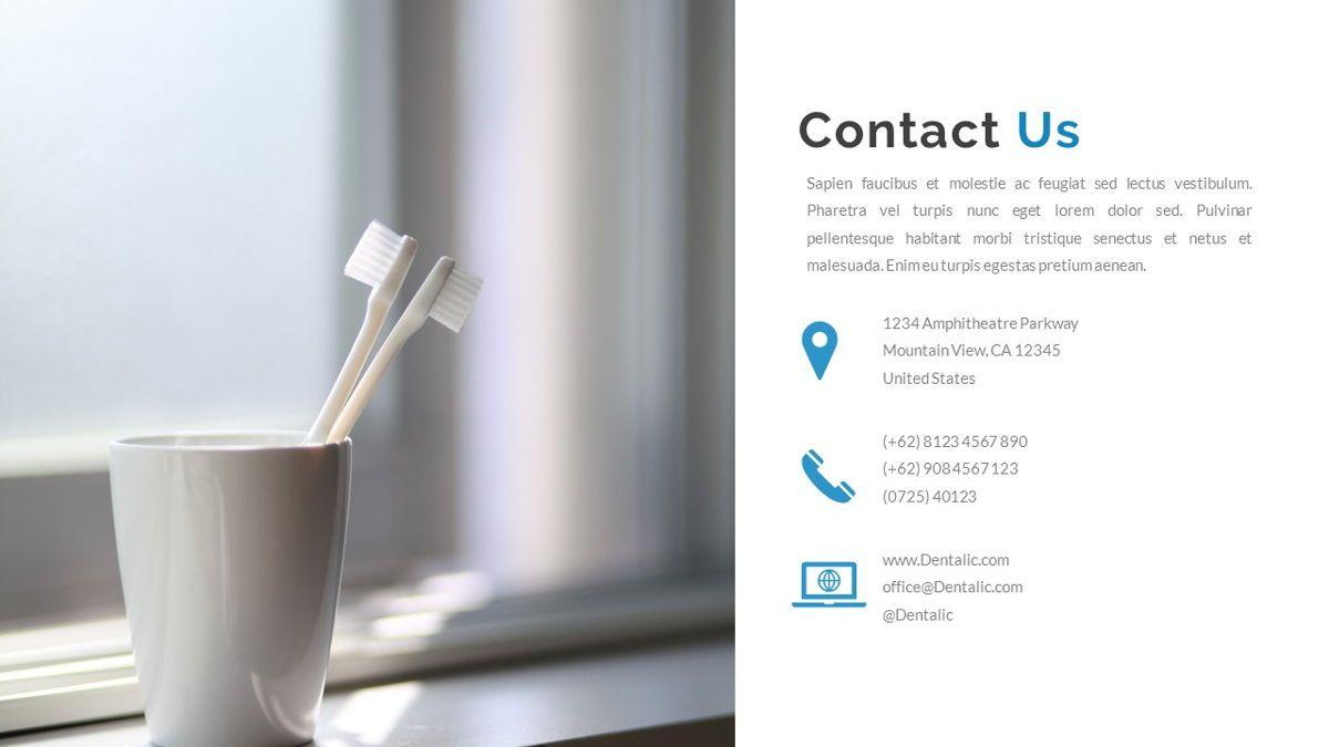 Dentalic - Dental Care Google Slide Template, Slide 36, 06662, Presentation Templates — PoweredTemplate.com