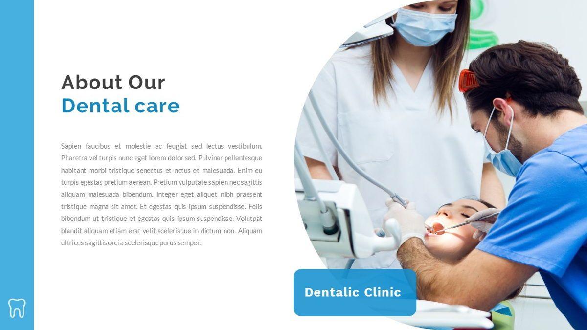 Dentalic - Dental Care Google Slide Template, Slide 4, 06662, Presentation Templates — PoweredTemplate.com