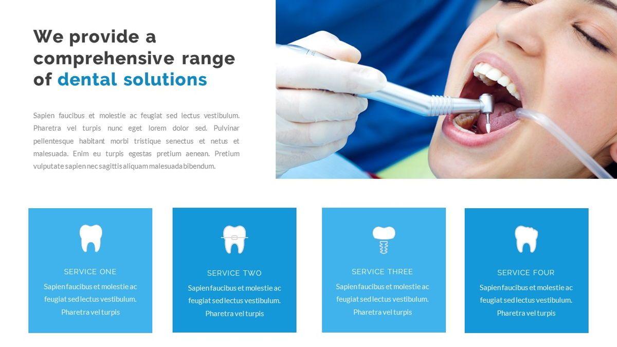 Dentalic - Dental Care Google Slide Template, Slide 8, 06662, Presentation Templates — PoweredTemplate.com