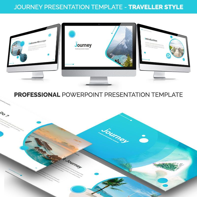 JOURNEY Powerpoint Presentation Template, 06663, Business Models — PoweredTemplate.com
