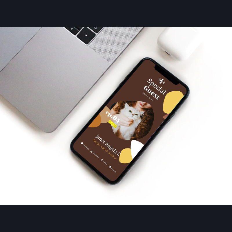 Bakery podcast instagram stories and posts keynote template, Slide 2, 06664, Business Models — PoweredTemplate.com