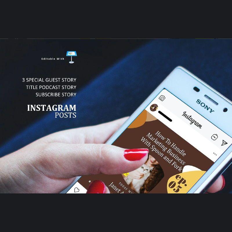 Bakery podcast instagram stories and posts keynote template, Slide 3, 06664, Business Models — PoweredTemplate.com