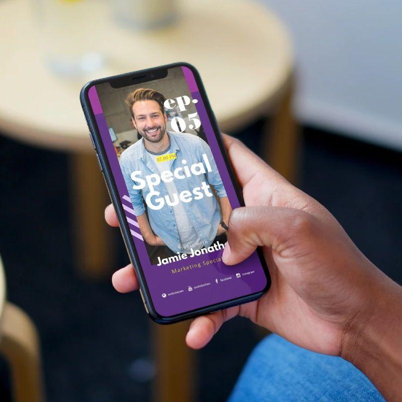Social media podcast instagram stories and posts keynote template, Slide 2, 06665, Business Models — PoweredTemplate.com