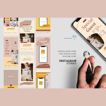Business Models: Makeup artist podcast instagram stories and posts keynote template #06668
