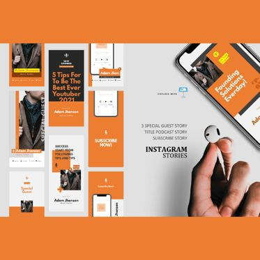 Business Models: Motive podcast instagram stories and posts keynote template #06669