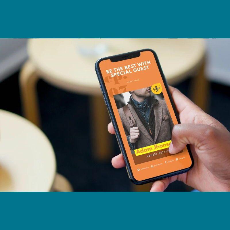 Motive podcast instagram stories and posts keynote template, Slide 2, 06669, Business Models — PoweredTemplate.com