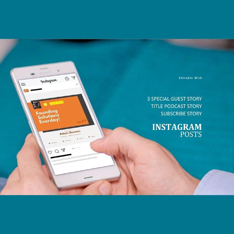 Motive podcast instagram stories and posts keynote template, Slide 3, 06669, Business Models — PoweredTemplate.com