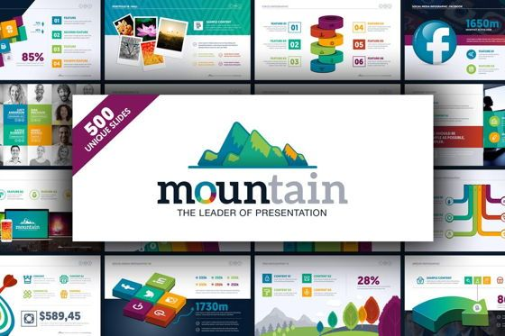 Business Models: Mountain Presentation Template #06671
