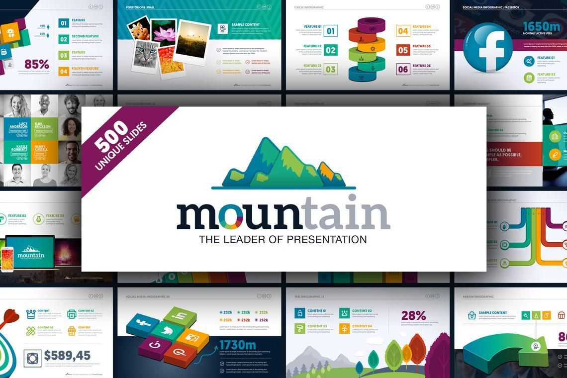 Mountain Presentation Template, 06671, Business Models — PoweredTemplate.com