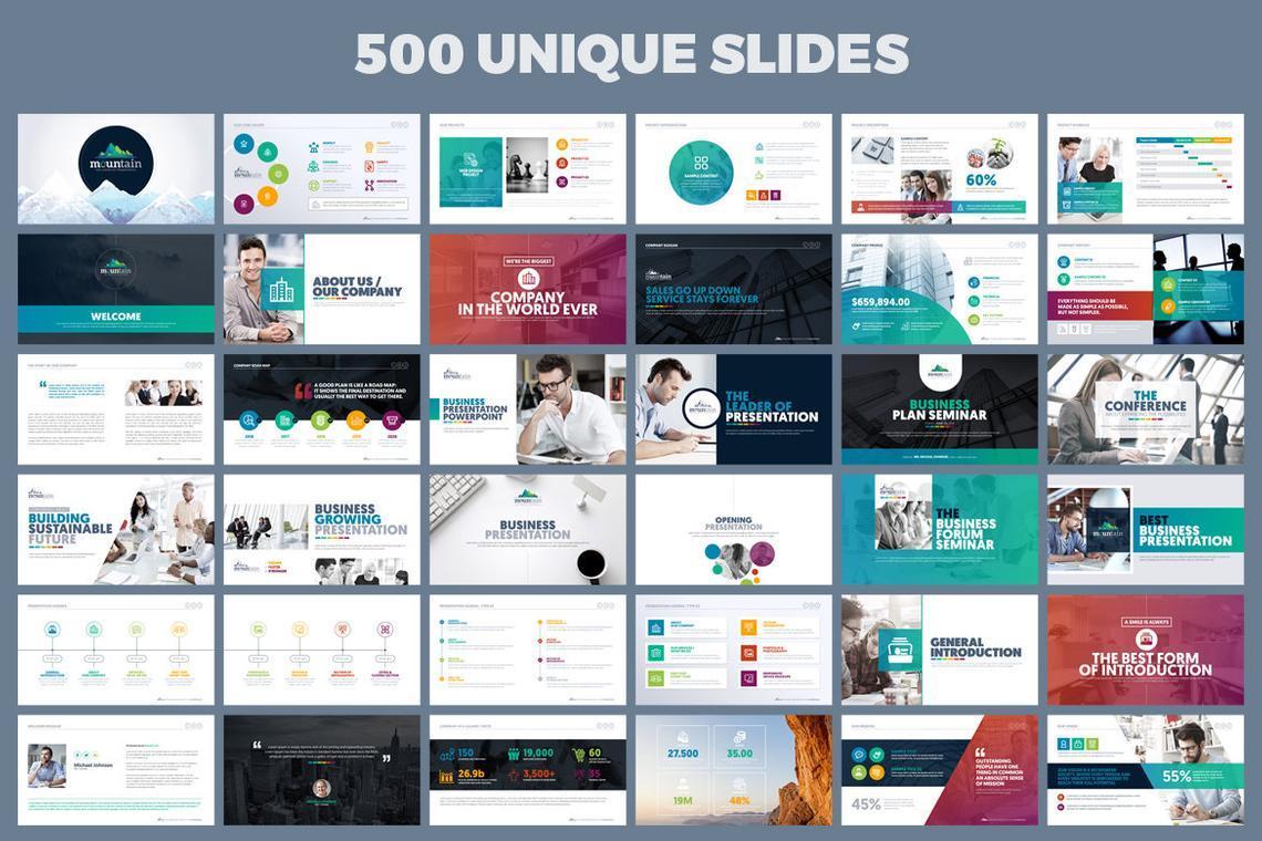 Mountain Presentation Template, Slide 2, 06671, Business Models — PoweredTemplate.com