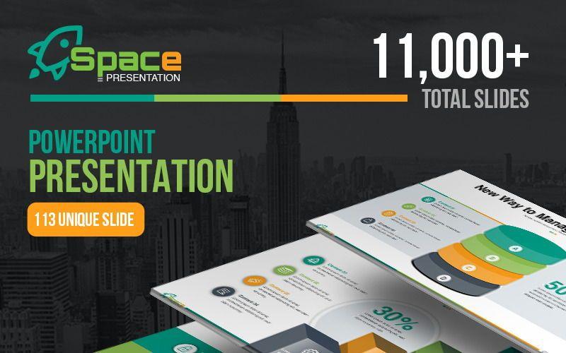 Space PowerPoint Template, 06673, Presentation Templates — PoweredTemplate.com
