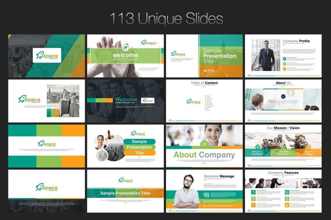 Space PowerPoint Template, Slide 2, 06673, Presentation Templates — PoweredTemplate.com