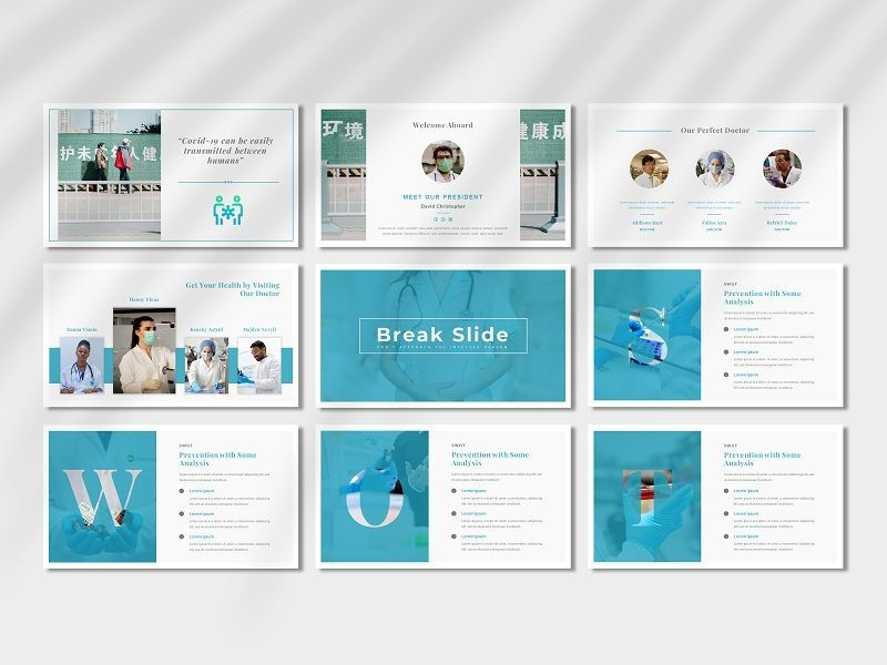 COVID-19 - Creative Business PowerPoint Template, Slide 4, 06674, Presentation Templates — PoweredTemplate.com
