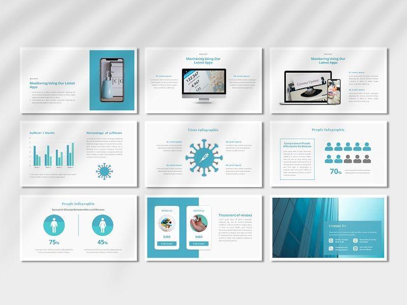 COVID-19 - Creative Business PowerPoint Template, Slide 5, 06674, Presentation Templates — PoweredTemplate.com