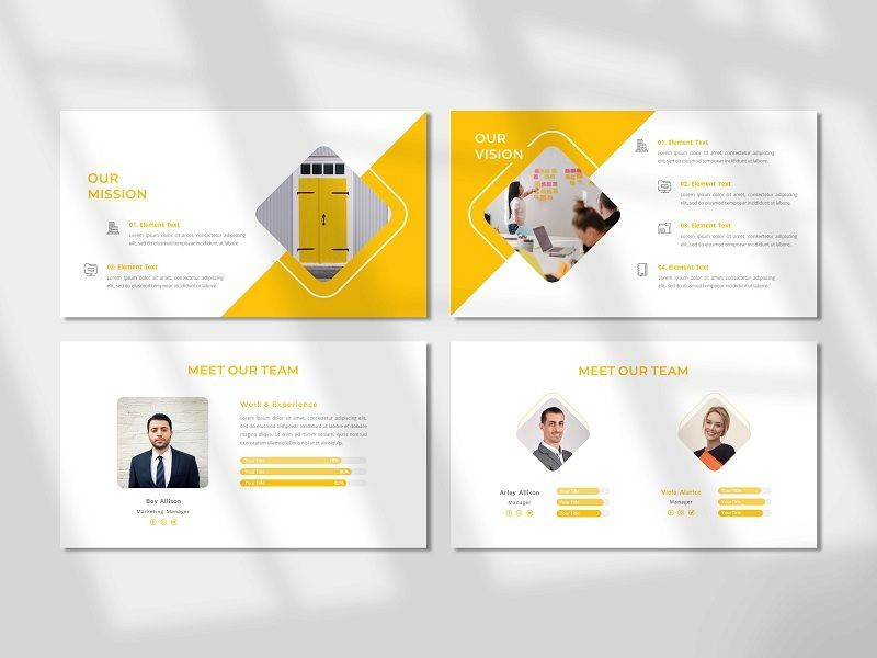 CORPORETE - Creative Business PowerPoint Template, Slide 3, 06676, Presentation Templates — PoweredTemplate.com