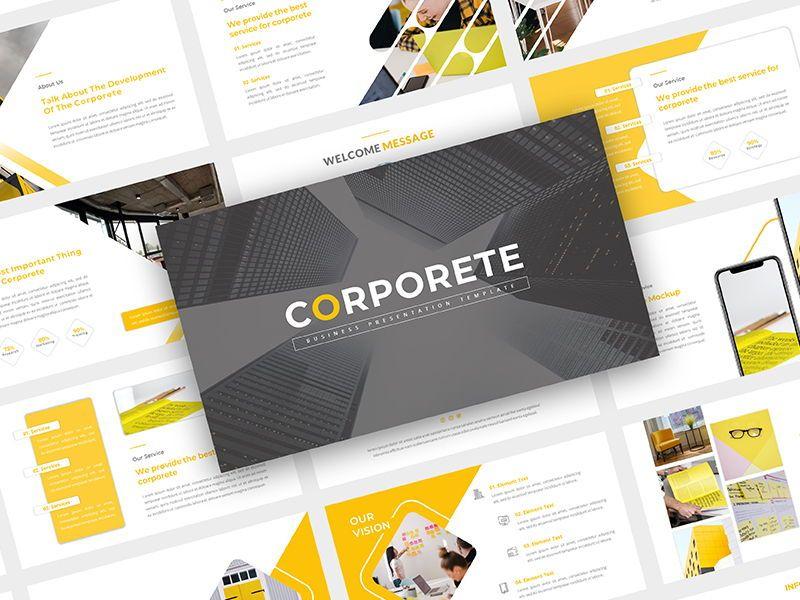 CORPORETE - Creative Business Google Slide Template, 06677, Presentation Templates — PoweredTemplate.com