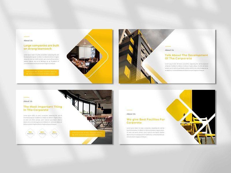 CORPORETE - Creative Business Google Slide Template, Slide 2, 06677, Presentation Templates — PoweredTemplate.com