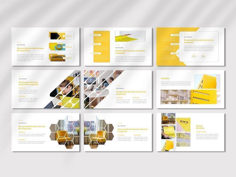 CORPORETE - Creative Business Google Slide Template, Slide 4, 06677, Presentation Templates — PoweredTemplate.com