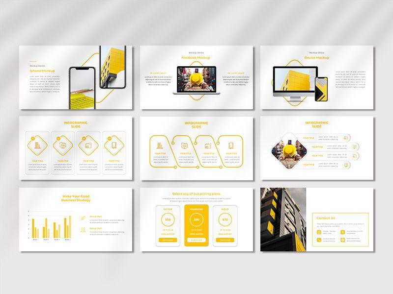 CORPORETE - Creative Business Google Slide Template, Slide 5, 06677, Presentation Templates — PoweredTemplate.com