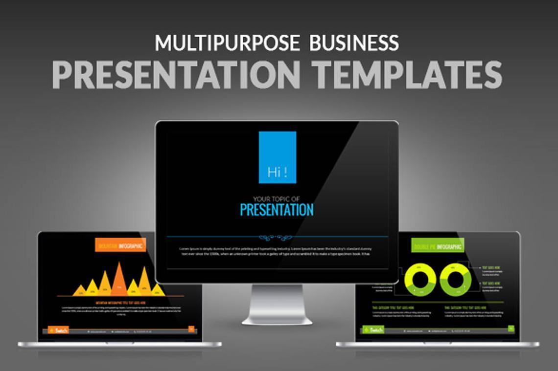 Multipurpose Business Presentation PowerPoint Template, 06678, Presentation Templates — PoweredTemplate.com