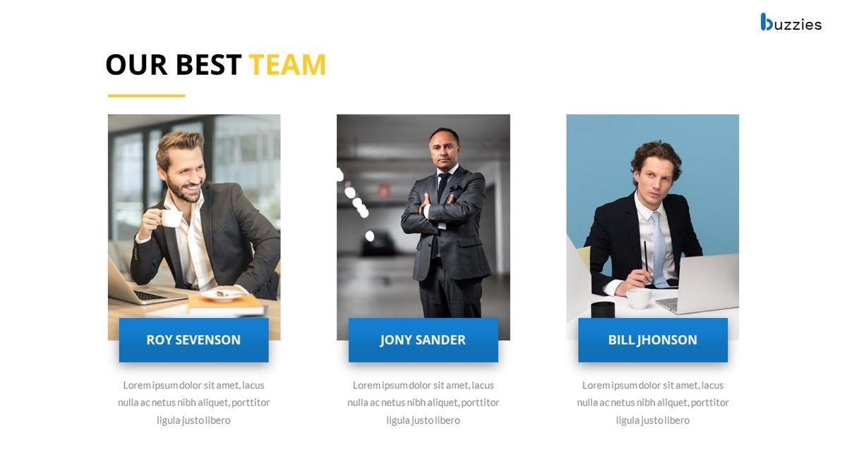 Buzzeies - Business presentation Template, Slide 11, 06679, Presentation Templates — PoweredTemplate.com