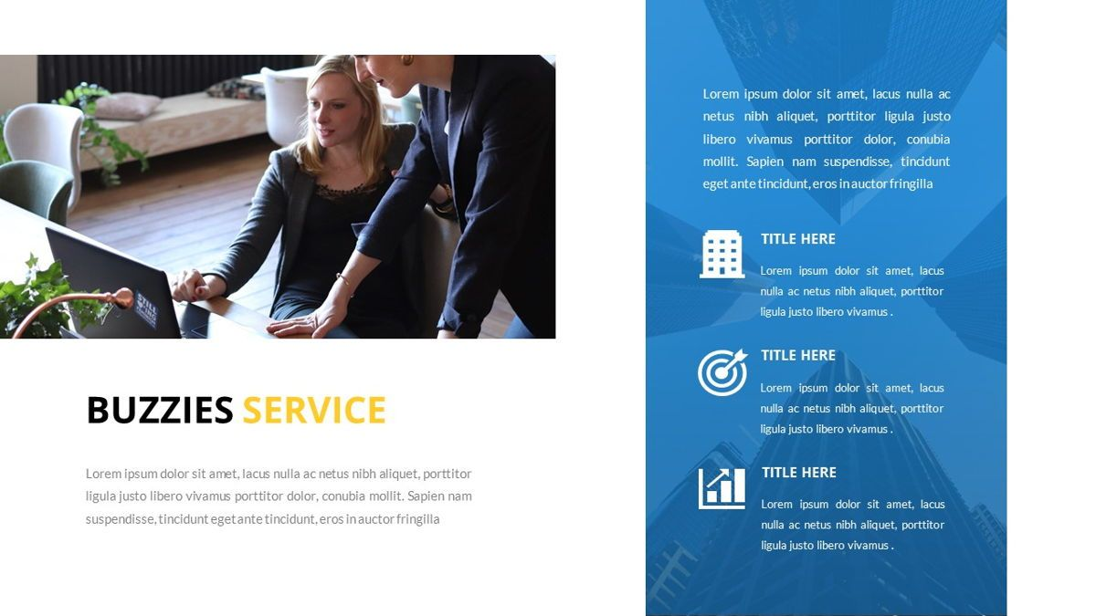 Buzzeies - Business presentation Template, Slide 14, 06679, Presentation Templates — PoweredTemplate.com