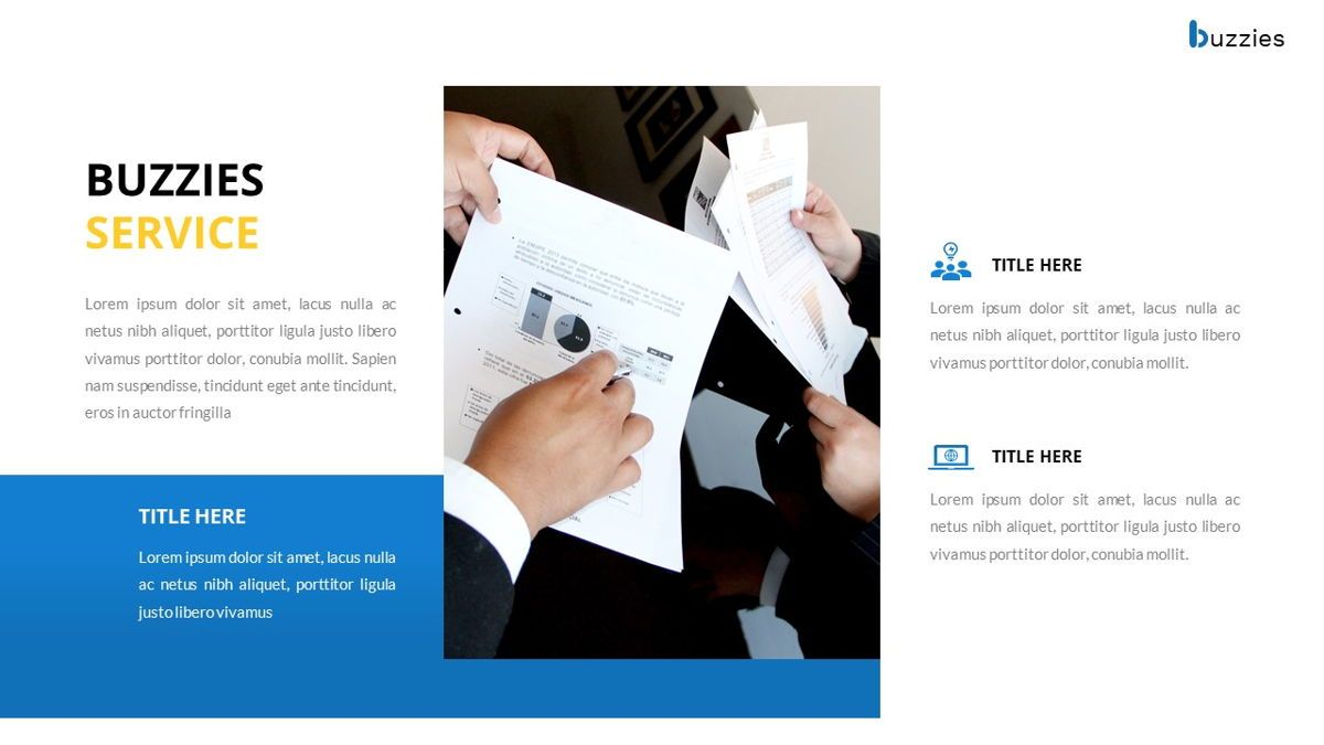 Buzzeies - Business presentation Template, Slide 15, 06679, Presentation Templates — PoweredTemplate.com