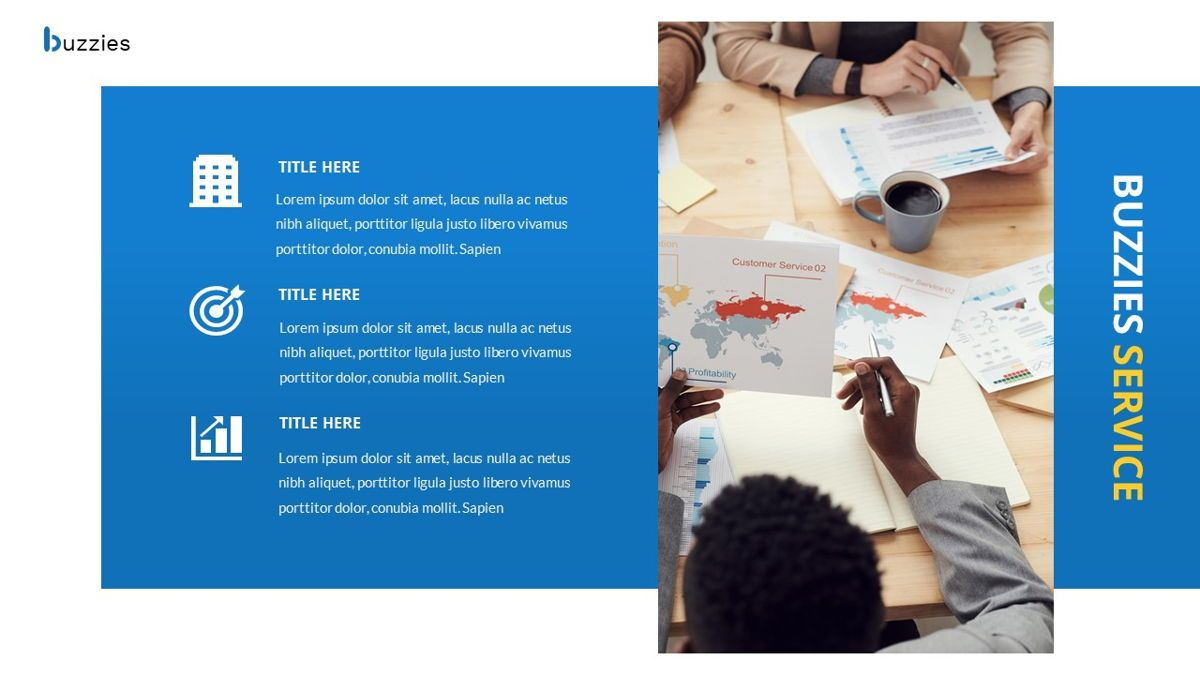 Buzzeies - Business presentation Template, Slide 17, 06679, Presentation Templates — PoweredTemplate.com