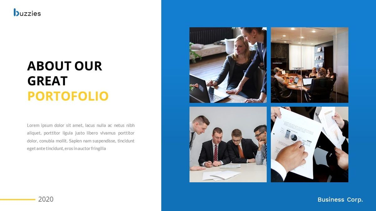 Buzzeies - Business presentation Template, Slide 21, 06679, Presentation Templates — PoweredTemplate.com