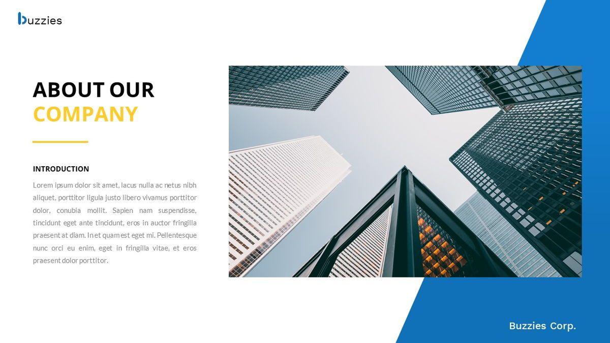 Buzzeies - Business presentation Template, Slide 3, 06679, Presentation Templates — PoweredTemplate.com
