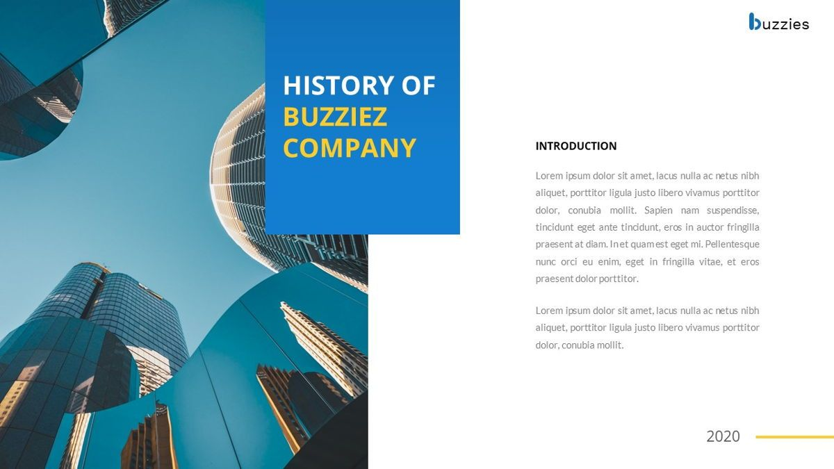 Buzzeies - Business presentation Template, Slide 4, 06679, Presentation Templates — PoweredTemplate.com