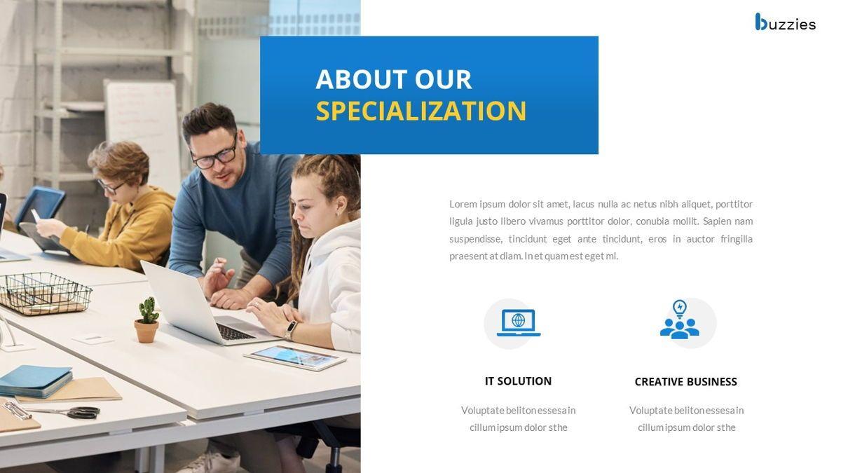 Buzzeies - Business presentation Template, Slide 6, 06679, Presentation Templates — PoweredTemplate.com