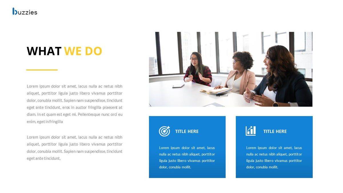 Buzzeies - Business presentation Template, Slide 9, 06679, Presentation Templates — PoweredTemplate.com