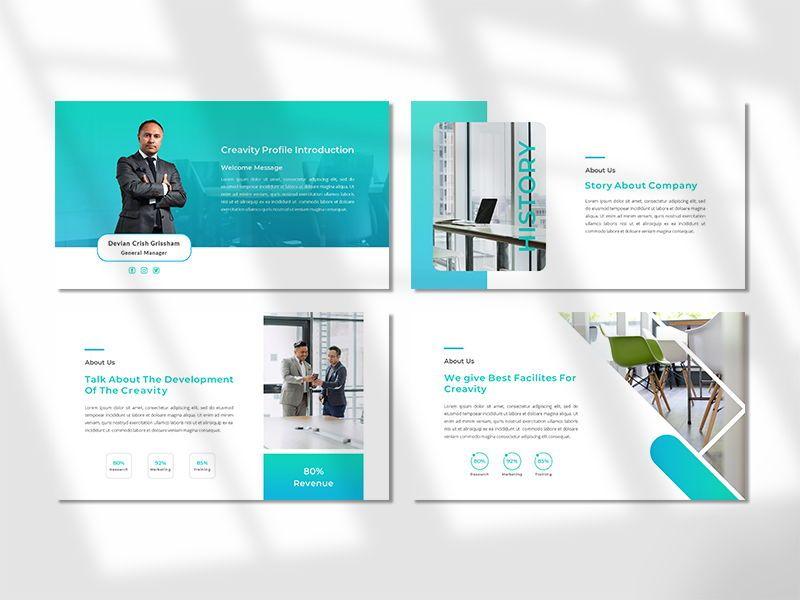 CREAVITY - Creative Business PowerPoint Template, Slide 2, 06680, Presentation Templates — PoweredTemplate.com