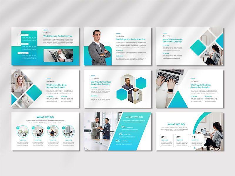 CREAVITY - Creative Business PowerPoint Template, Slide 4, 06680, Presentation Templates — PoweredTemplate.com