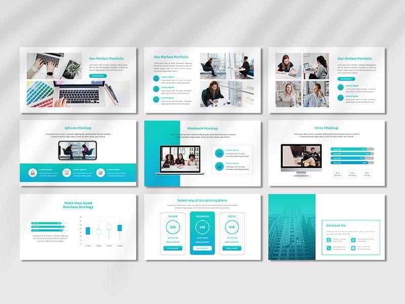 CREAVITY - Creative Business PowerPoint Template, Slide 5, 06680, Presentation Templates — PoweredTemplate.com
