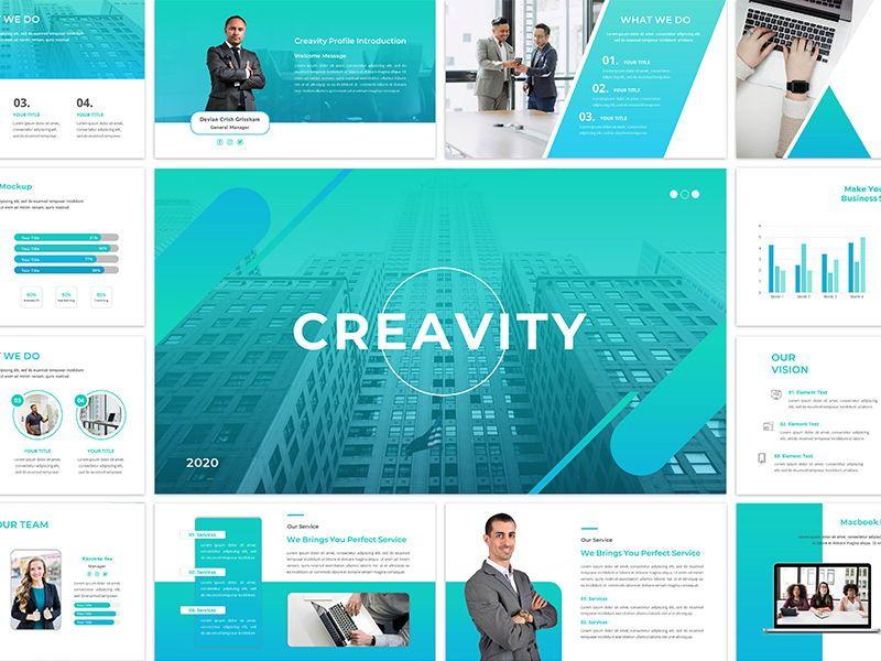 CREAVITY - Creative Business Google Slide Template, 06681, Presentation Templates — PoweredTemplate.com