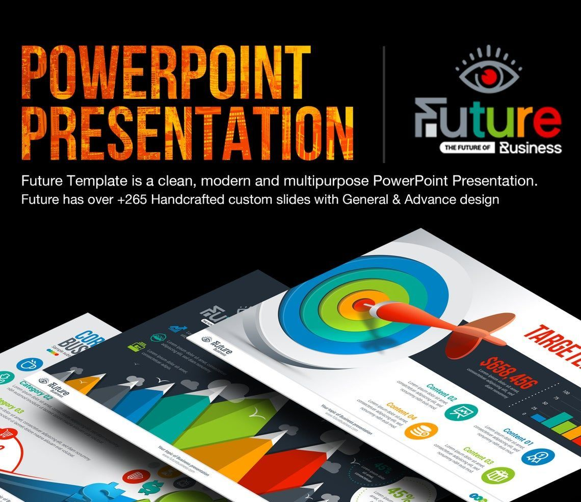 The Future of Business PowerPoint Template, 06682, Infographics — PoweredTemplate.com