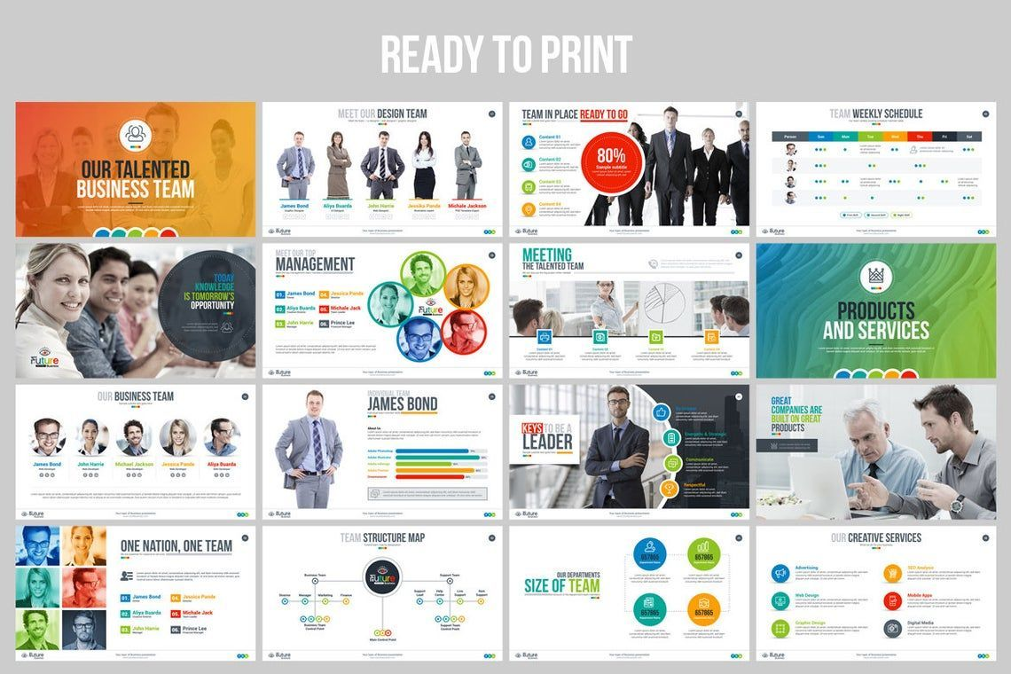 The Future of Business PowerPoint Template, Slide 4, 06682, Infographics — PoweredTemplate.com